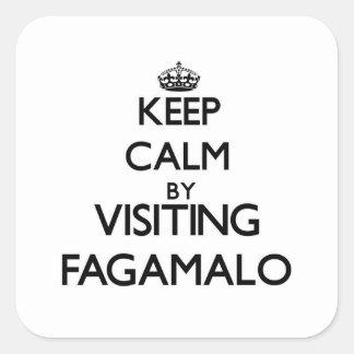 Keep calm by visiting Fagamalo Samoa Square Sticker