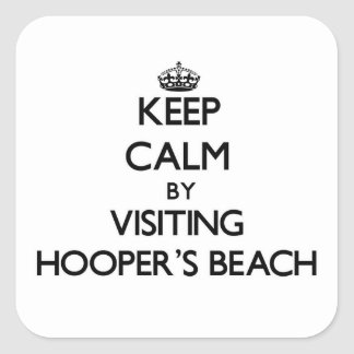 Keep calm by visiting Hooper'S Beach California Square Sticker