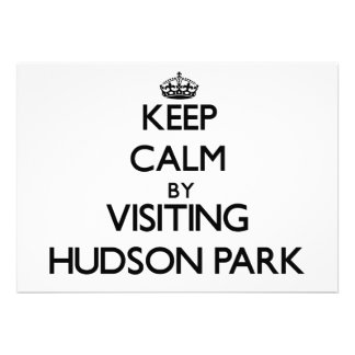 Keep calm by visiting Hudson Park New York Invitations