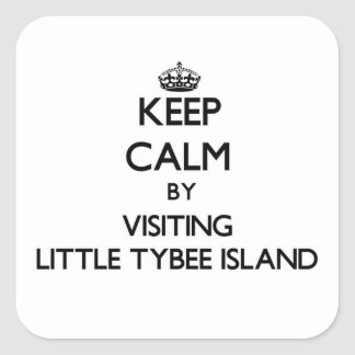 Keep calm by visiting Little Tybee Island Georgia Square Sticker