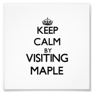 Keep calm by visiting Maple New Jersey Photo Print