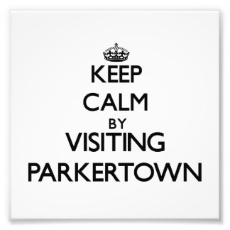 Keep calm by visiting Parkertown New Jersey Art Photo