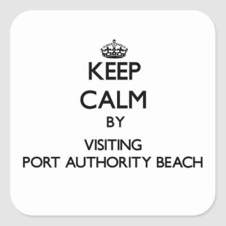Keep calm by visiting Port Authority Beach Guam Square Sticker