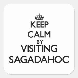 Keep calm by visiting Sagadahoc Maine Square Sticker