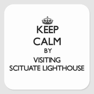 Keep calm by visiting Scituate Lighthouse Massachu Square Sticker