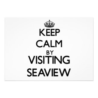 Keep calm by visiting Seaview New York Personalized Invite