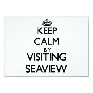 """Keep calm by visiting Seaview New York 5"""" X 7"""" Invitation Card"""