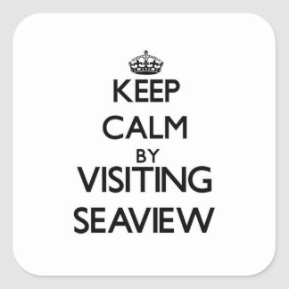 Keep calm by visiting Seaview New York Square Sticker