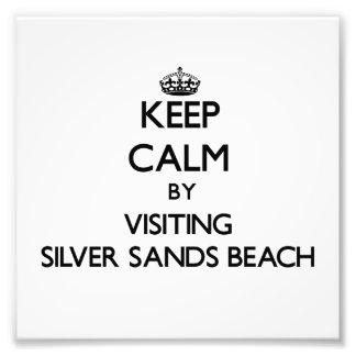 Keep calm by visiting Silver Sands Beach Florida Photo Art