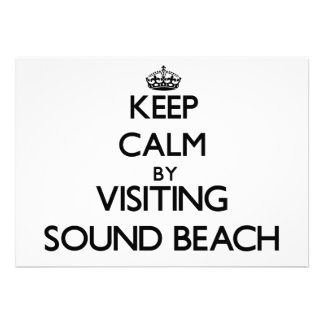 Keep calm by visiting Sound Beach New York Invitation
