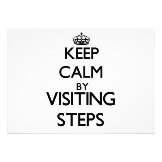 Keep calm by visiting Steps Massachusetts Personalized Invitation