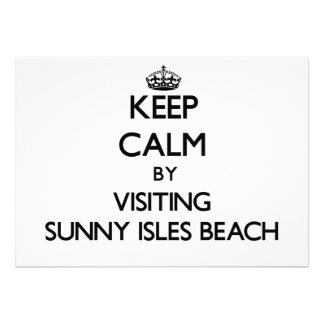 Keep calm by visiting Sunny Isles Beach Florida Personalized Invitation