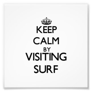 Keep calm by visiting Surf New Jersey Photographic Print