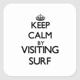 Keep calm by visiting Surf New Jersey Square Sticker