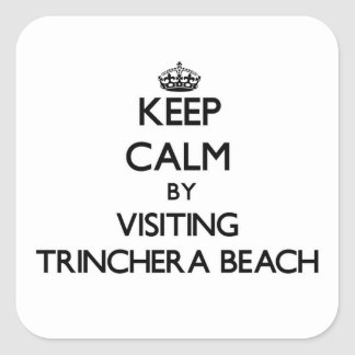 Keep calm by visiting Trinchera Beach Guam Square Sticker