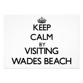 Keep calm by visiting Wades Beach New York Personalized Invitation