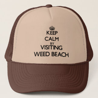 Keep calm by visiting Weed Beach Connecticut Trucker Hat