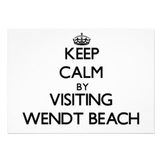 Keep calm by visiting Wendt Beach New York Cards