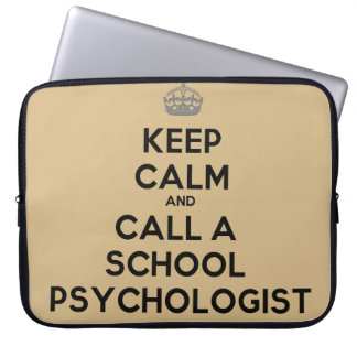 Keep Calm & Call a School Psychologist Laptop Case