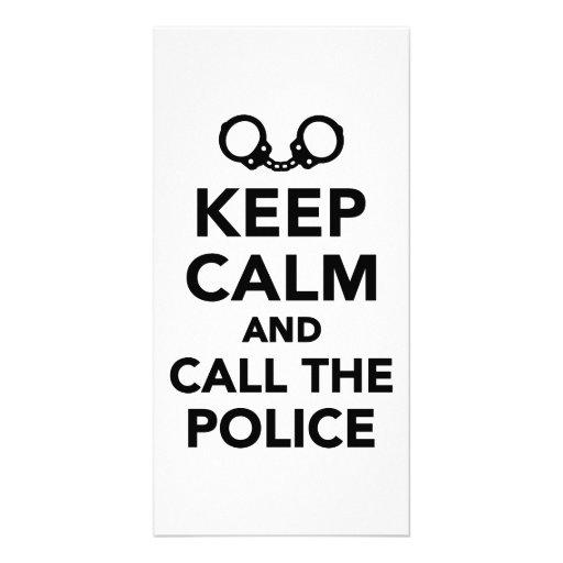 Keep calm call and the Police Photo Card