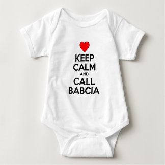 Keep Calm Call Babcia Baby Bodysuit