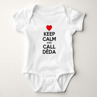 Keep Calm Call Deda Baby Bodysuit