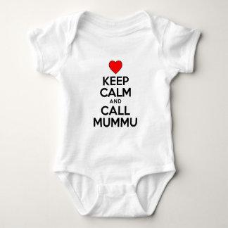 Keep Calm Call Mummu Baby Bodysuit