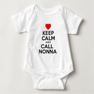 Keep Calm Call Nonna Baby Bodysuit