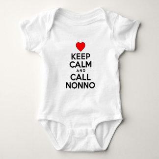 Keep Calm Call Nonno Baby Bodysuit