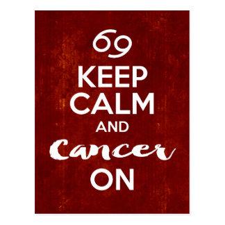 Keep Calm Cancer On Astrology Birthday Postcard