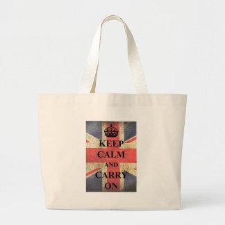 Keep Calm Carry On British Flag Bags