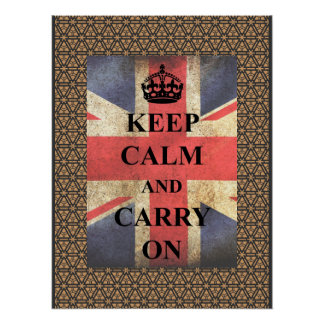 Keep Calm Carry On British Flag Poster
