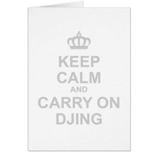 Keep Calm & Carry On DJing - DJ Disc Jockey Music Card
