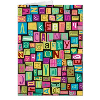 keep calm & carry on greeting card