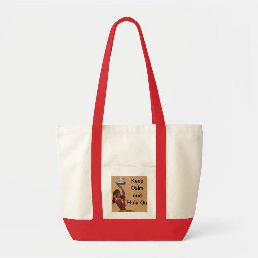 Keep Calm Carry On Hawaiian Style Canvas Bags