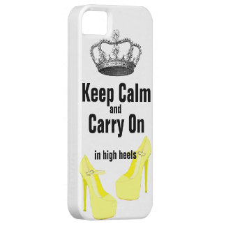 Keep Calm Carry On  High Heel Shoes iPhone 5 iPhone 5 Case