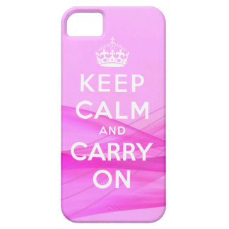 Keep Calm Carry On iPhone 5 Case Pink