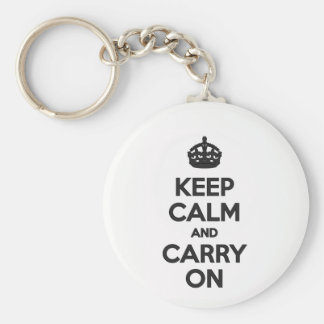 Keep Calm & Carry on Key Ring