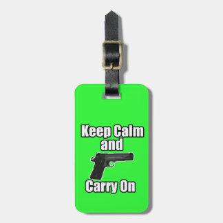 Keep Calm Carry On Luggage Tag