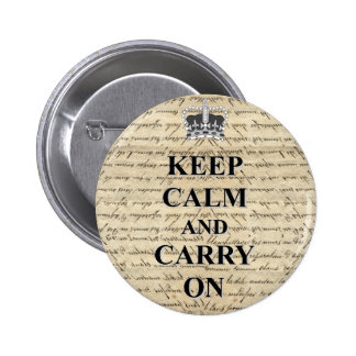 Keep Calm Carry On Pin