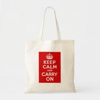 Keep Calm Carry On Tote Bag