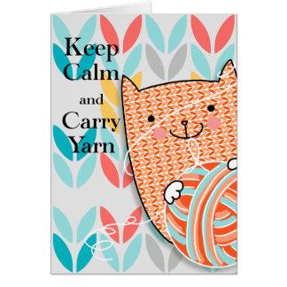Keep Calm & Carry Yarn Card 5 x 7