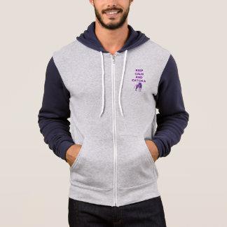 Keep Calm & Catch a Purple Unicorn Men's Hoodie
