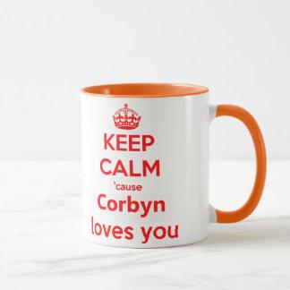 Keep calm cause Corbyn loves you red Mug