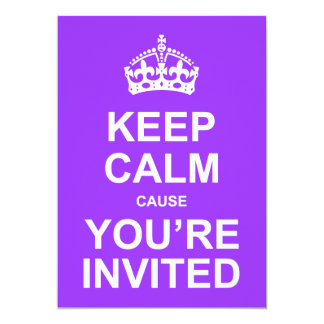 Keep Calm Cause You're Invited Quinceañera 13 Cm X 18 Cm Invitation Card