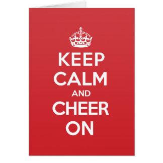 Keep Calm Cheer Greeting Note Card