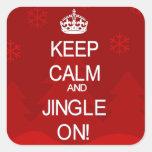 Keep Calm Christmas Jingle red stickers