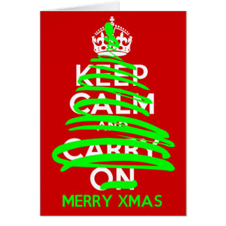 KEEP CALM Christmas Tree Grafitti Card
