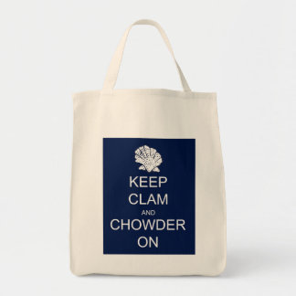Keep Calm Clam Chowder Grocery Tote Grocery Tote Bag
