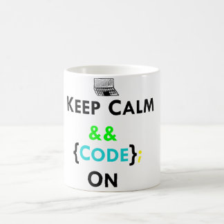 Keep Calm & Code On Mug